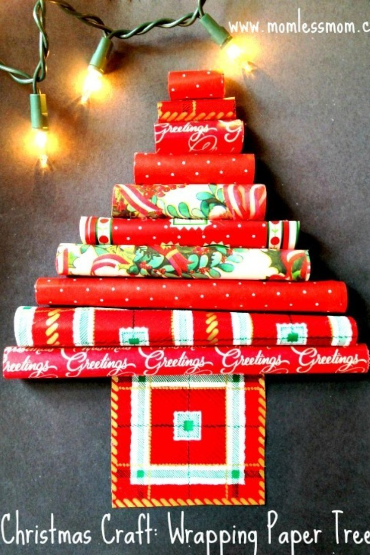 Christmas Craft DIY: Wrapping Paper Tree