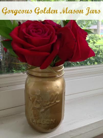 Do-it- Yourself Gorgeous Golden Mason Jar