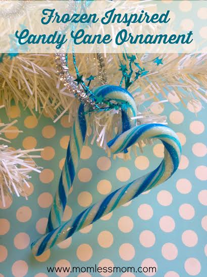 frozen themed craft ideas- Candy Cane Ornament