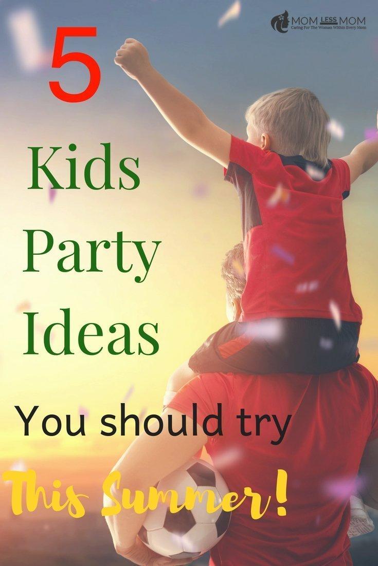 5 Creative Summer Kids Party Ideas for Boys