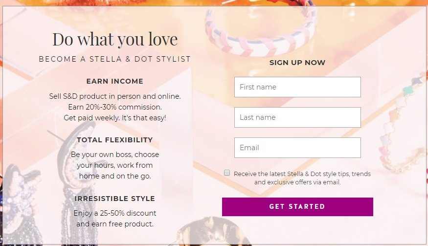 Stella&Dot Stylist Sign up