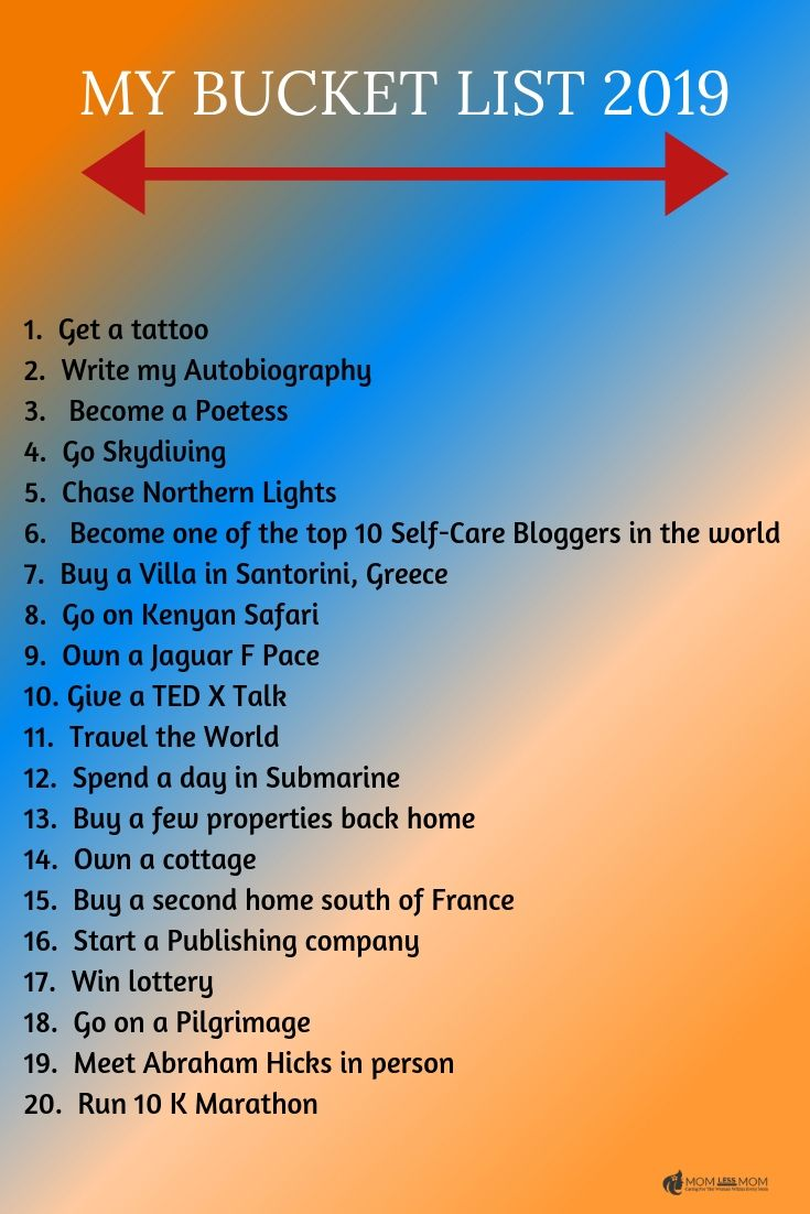 If you dont have a bucket list, you should create one right now. A great self-care activity, bucket list is a tool to help you stay on track with life goals and make the most out of it while achieving them! #bucketlist2019