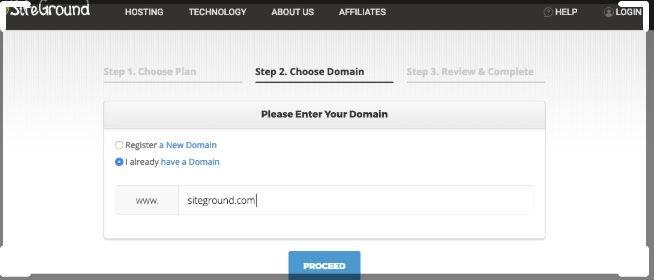 siteground webhosting