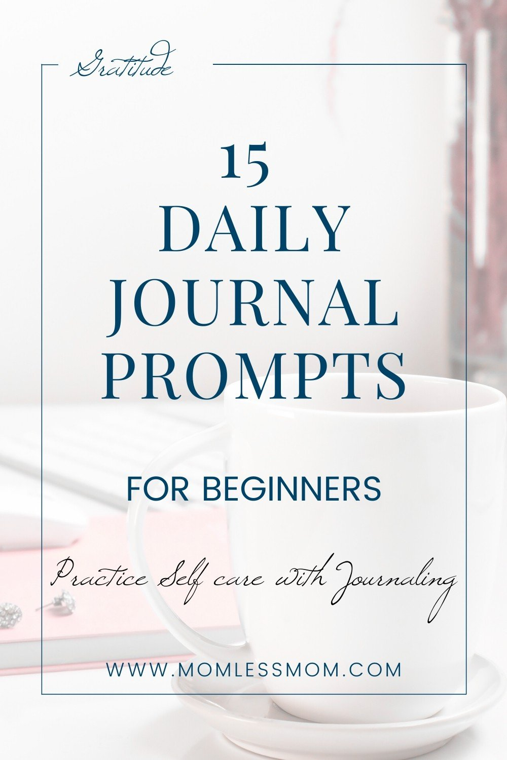 If journaling is new to you and you are looking for inspiration, this 15 daily journal prompts will give you a good start. These journal prompts for women are great for therapy and cope with anxiety and depression #journaling #dailyjournalprompts