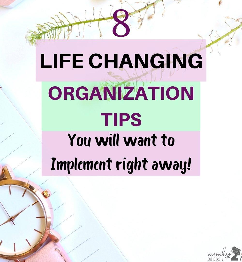 organization ideas for better life