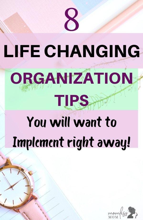 organization ideas for a better life