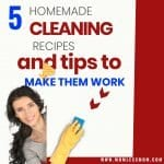 5 Homemade Cleaning Recipes and Tips to Make them Work!