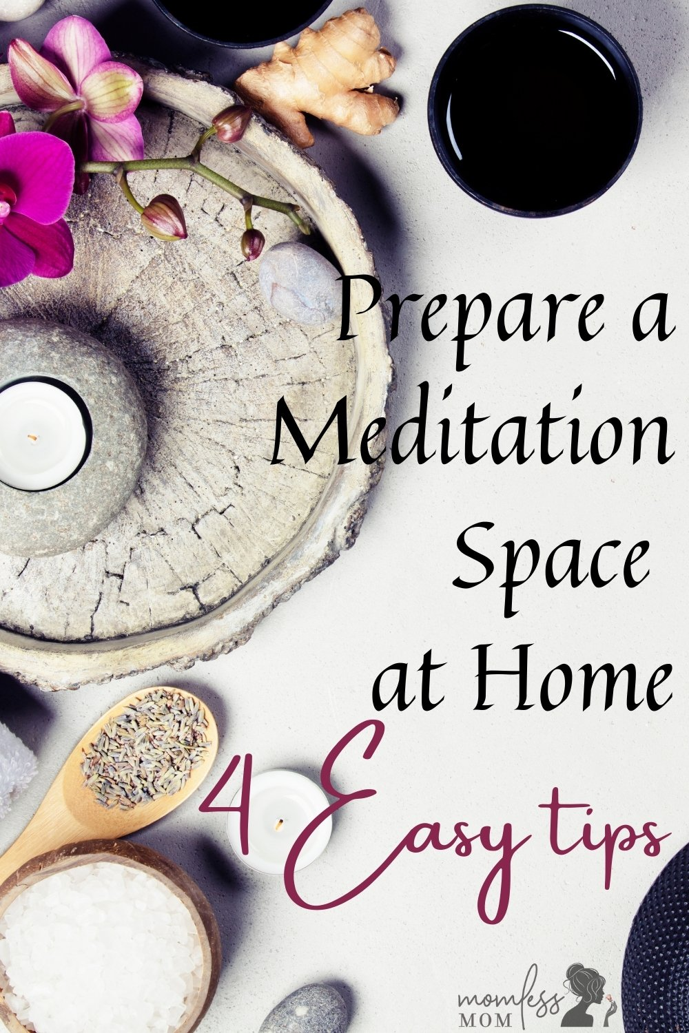 Prepare a meditation space at home